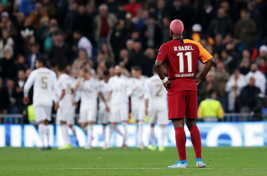 MADRID, SPAIN - NOVEMBER 06: Ryan Babel of Galatasaray looks on after Real Madrid's fourth goal during the UEFA Champions League group A match between Real Madrid and Galatasaray at Bernabeu on November 06, 2019 in Madrid, Spain. (Photo by Gonzalo Arroyo Moreno/Getty Images)