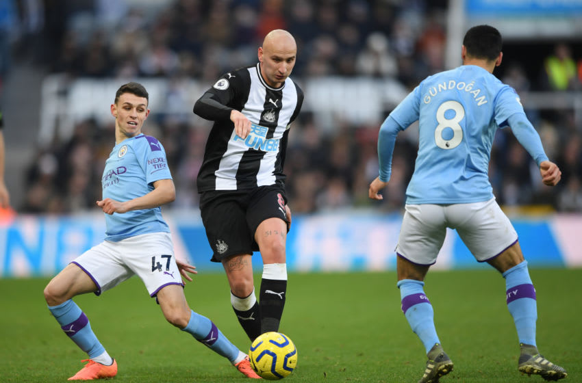Newcastle player Jonjo Shelvey. (Photo by Stu Forster/Getty Images)