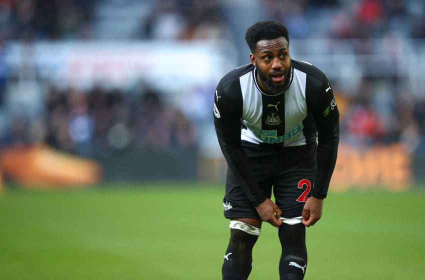 Danny Rose of Newcastle United. (Photo by Robbie Jay Barratt - AMA/Getty Images)