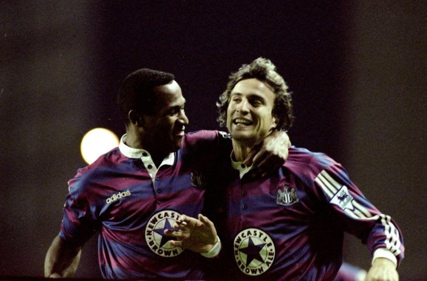 Les Ferdinand and David Ginola in 1995. Mandatory Credit: Ben Radford/Allsport