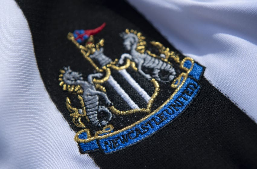 The Newcastle United club crest. (Photo by Visionhaus)