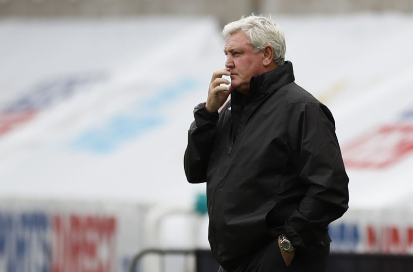Newcastle United's Steve Bruce. (Photo by LEE SMITH/POOL/AFP via Getty Images)