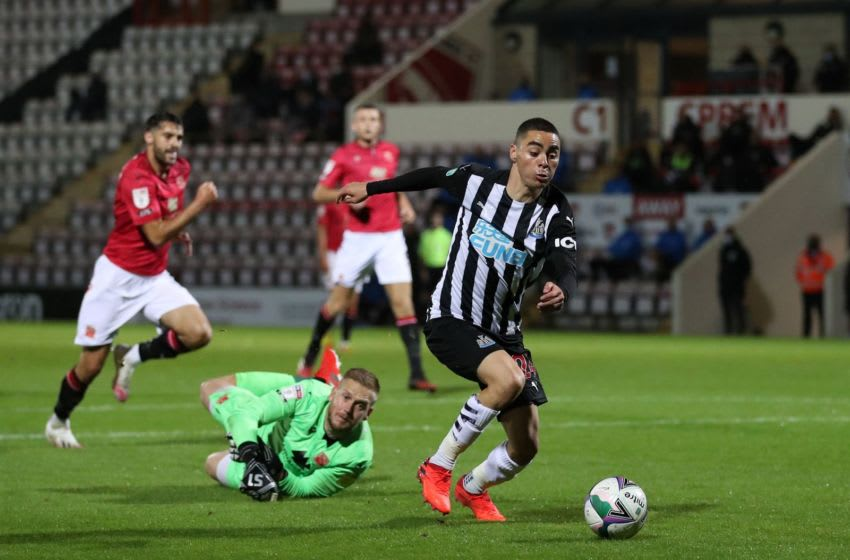 Newcastle United midfielder Miguel Almiron.(Photo by MARTIN RICKETT/POOL/AFP via Getty Images)
