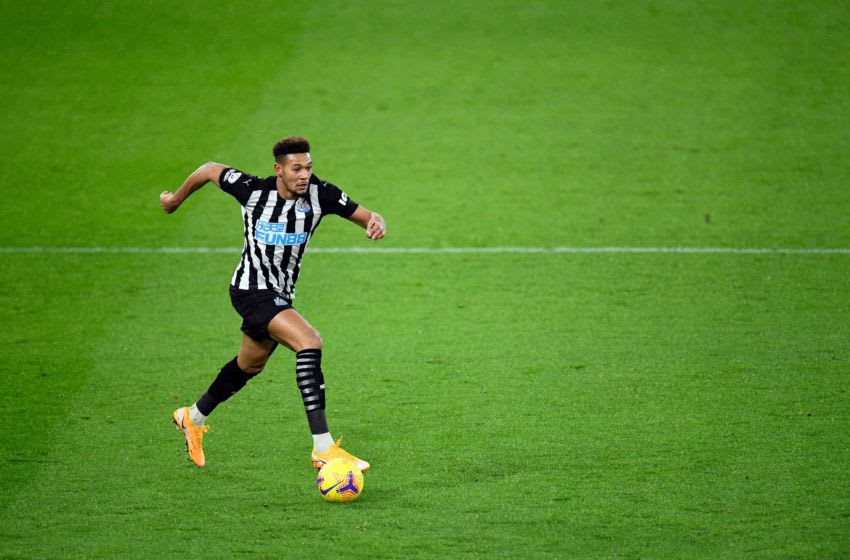 Newcastle United's Joelinton. (Photo by PETER POWELL/POOL/AFP via Getty Images)