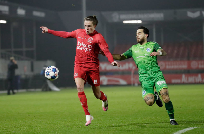 Elias Sorensen of Almere City. (Photo by Soccrates/Getty Images)