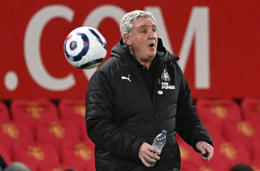 Newcastle United's Steve Bruce. (Photo by STU FORSTER/POOL/AFP via Getty Images)