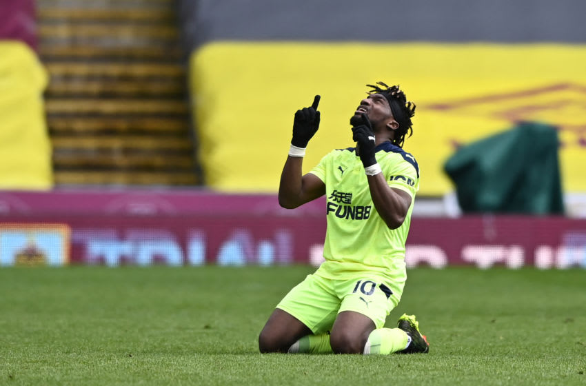 Newcastle United's Allan Saint-Maximin. (Photo by STU FORSTER/AFP via Getty Images)