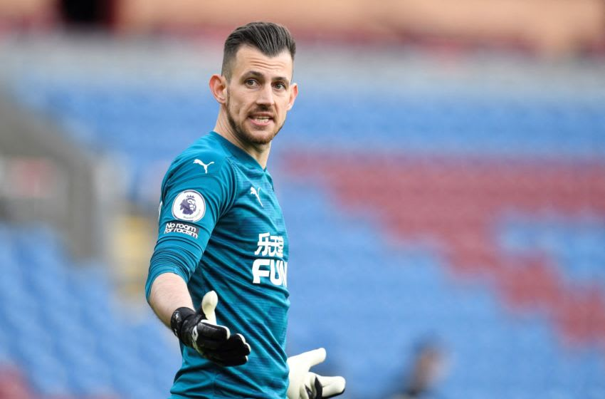 Newcastle United's Martin Dubravka. (Photo by PETER POWELL/POOL/AFP via Getty Images)