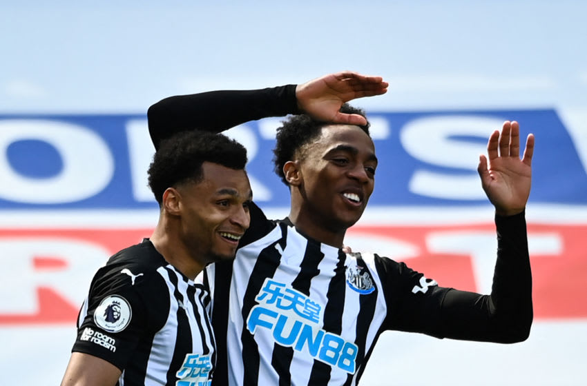Newcastle United's Joe Willock. (Photo by STU FORSTER/POOL/AFP via Getty Images)
