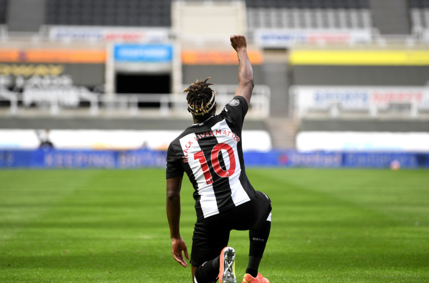 Allan Saint-Maximin of Newcastle United. (Photo by Michael Regan/Getty Images)