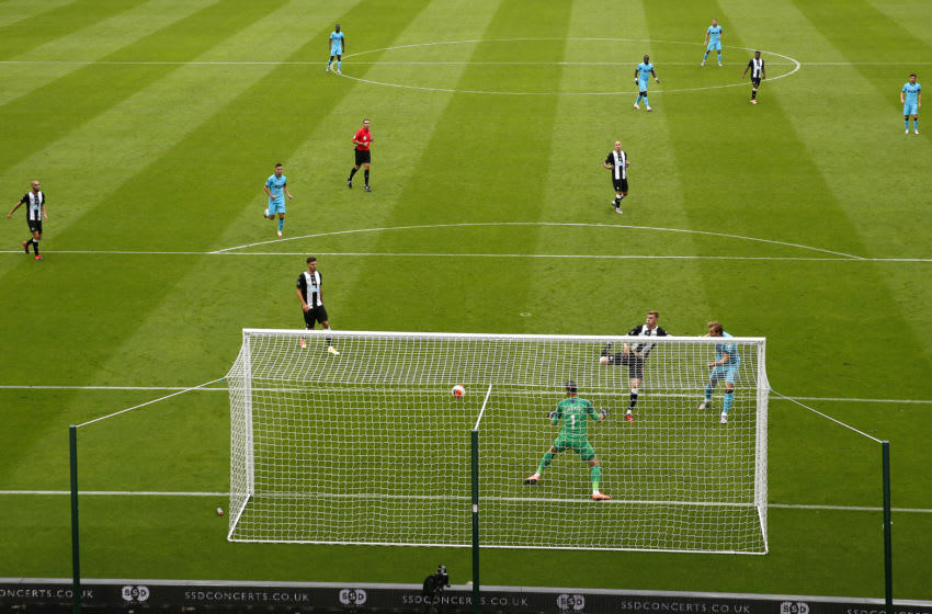Harry Kane of Tottenham Hotspur. (Photo by Owen Humphreys/Pool via Getty Images)