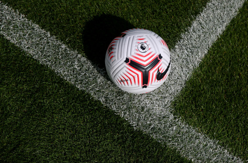 A detailed view of The Nike Flight Premier League Football For 2020/21 Season. (Photo by Alex Pantling/Getty Images)