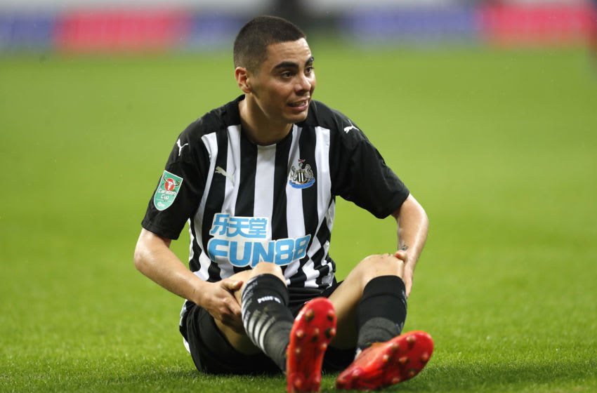 Miguel Almiron of Newcastle United . (Photo by Lee Smith - Pool/Getty Images)