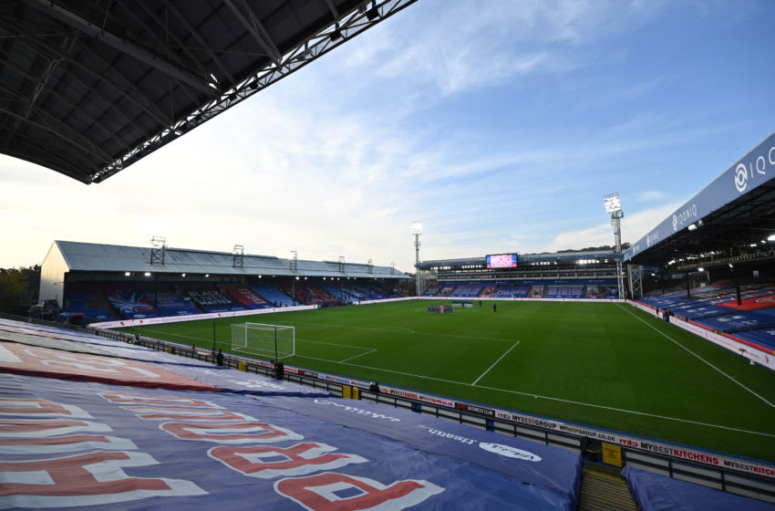 General view inside Selhurst Park. (Photo by Glyn Kirk - Pool/Getty Images)