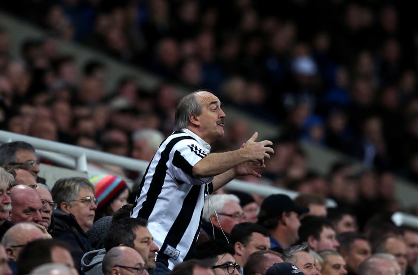 NEWCASTLE UPON TYNE, ENGLAND - NOVEMBER 04: A Newcastle fans shows his frustration during the Premier League match between Newcastle United and AFC Bournemouth at St. James Park on November 4, 2017 in Newcastle upon Tyne, England. (Photo by Jan Kruger/Getty Images)