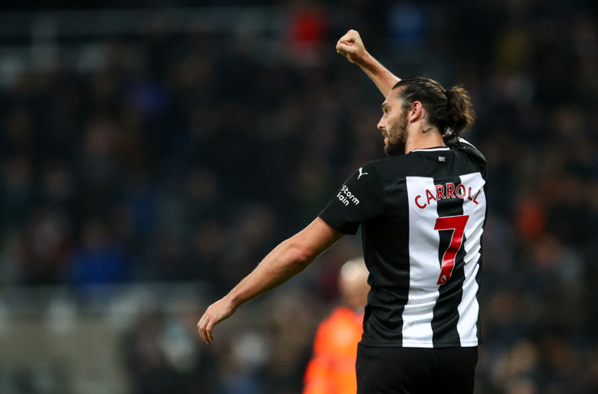 Andy Carroll of Newcastle United. (Photo by Robbie Jay Barratt - AMA/Getty Images)