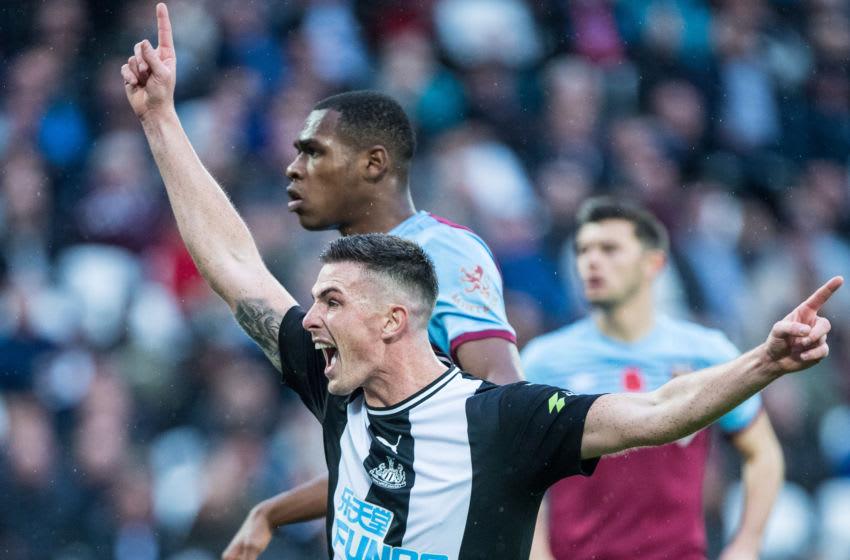 Ciaran Clark of Newcastle United. (Photo by Sebastian Frej/MB Media/Getty Images)