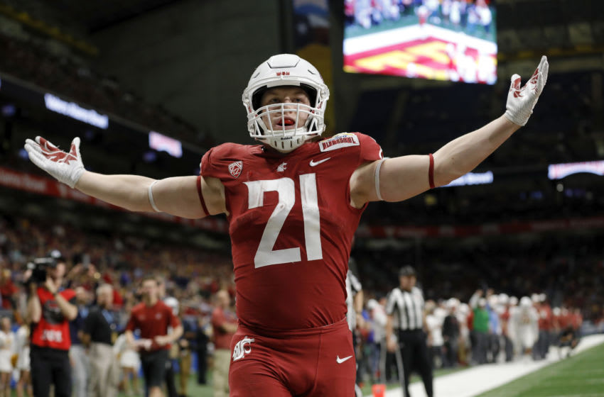 Max Borghi, 2021 NFL Draft (Photo by Tim Warner/Getty Images)