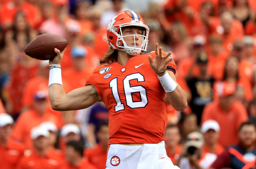 2021 NFL Draft prospect, Trevor Lawrence #16 of the Clemson Tigers (Photo by Streeter Lecka/Getty Images)