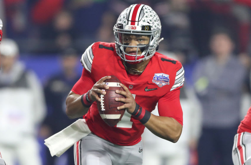 Justin Fields, 2021 NFL Draft prospect (Photo by Matthew Stockman/Getty Images)