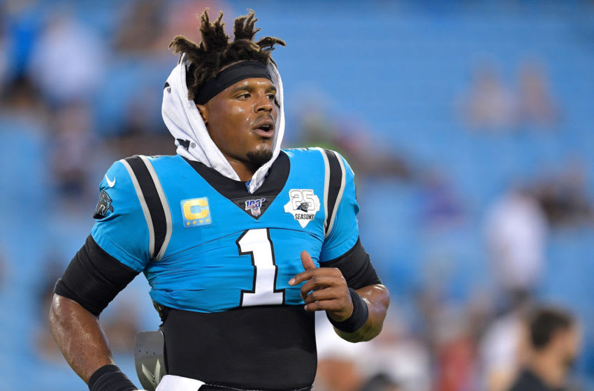 Cam Newton is a perfect late-round quarterback target in fantasy football drafts. (Photo by Grant Halverson/Getty Images)