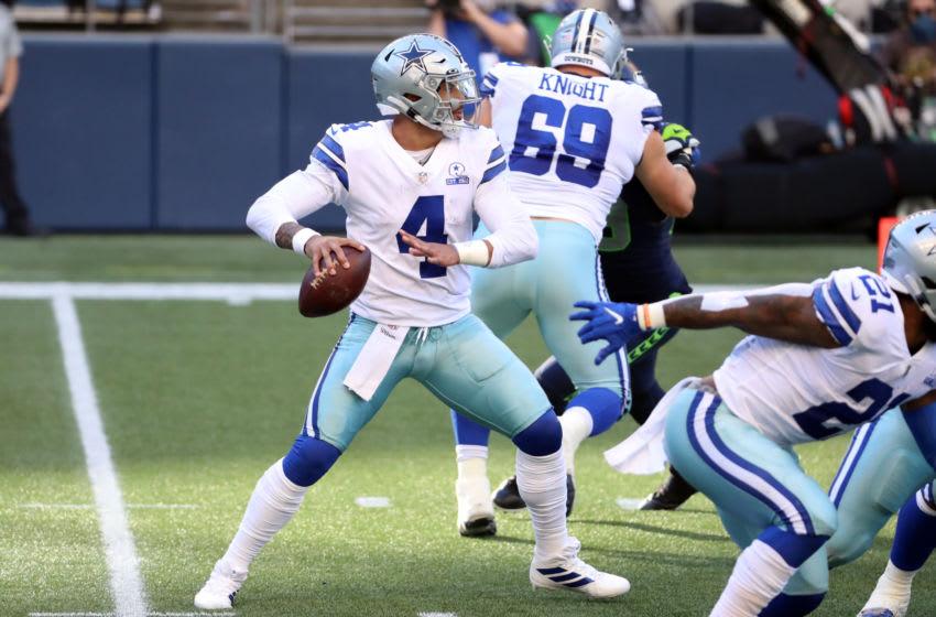 Dallas Cowboys quarterback Dak Prescott (Photo by Abbie Parr/Getty Images)