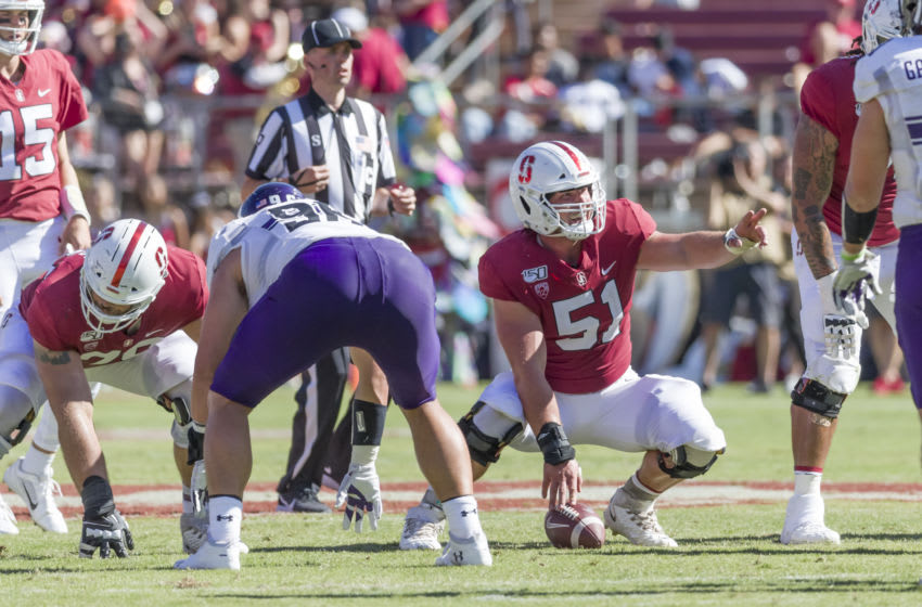 2021 NFL Draft prospect Drew Dalman #51 of the Stanford Cardinal (Photo by David Madison/Getty Images)
