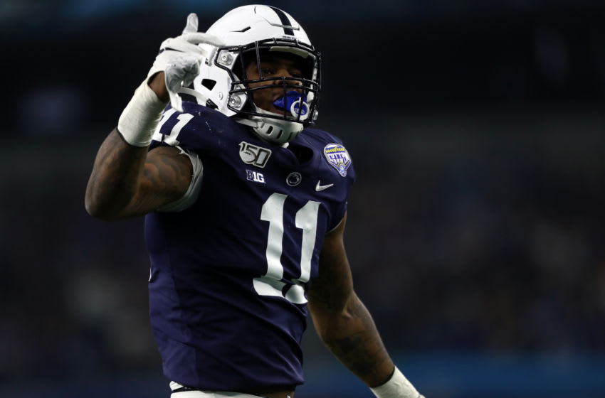 2021 NFL Draft prospect, Micah Parsons #11 of the Penn State Nittany Lions. (Photo by Ronald Martinez/Getty Images)
