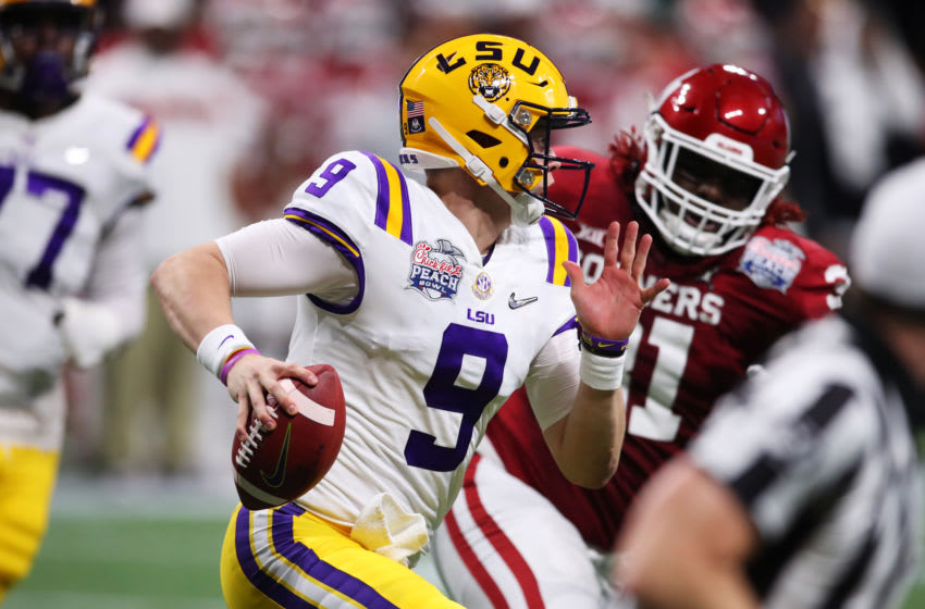2020 NFL Draft pick Quarterback Joe Burrow #9 of the LSU Tigers (Photo by Gregory Shamus/Getty Images)