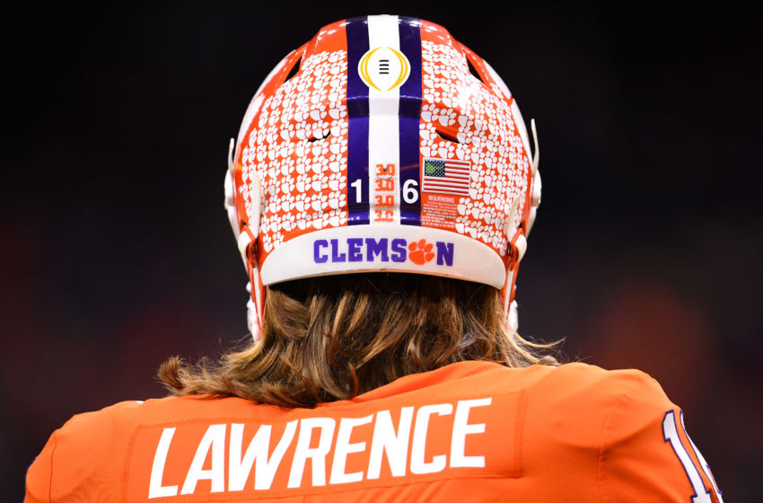 The Jacksonville Jaguars land Trevor Lawrence in this 2021 NFL mock draft (Photo by Jamie Schwaberow/Getty Images)