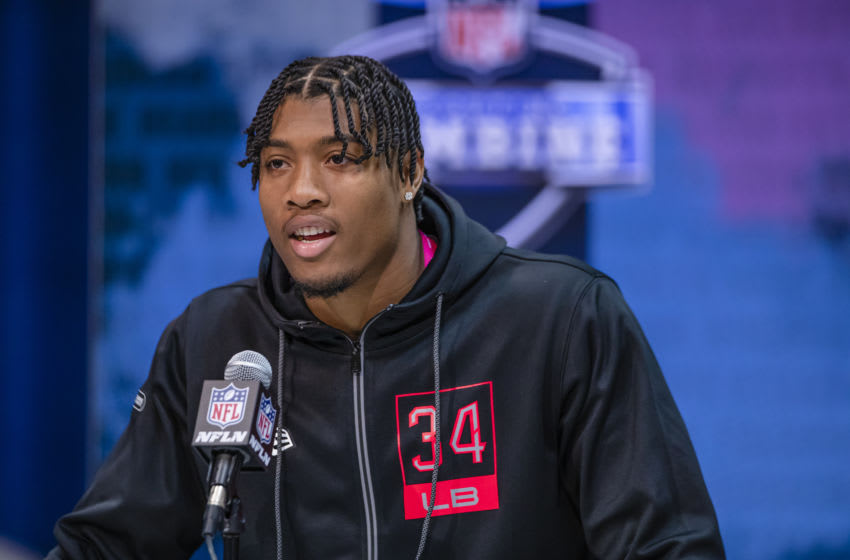 Arizona Cardinals draft pick, Isaiah Simmons (Photo by Michael Hickey/Getty Images)