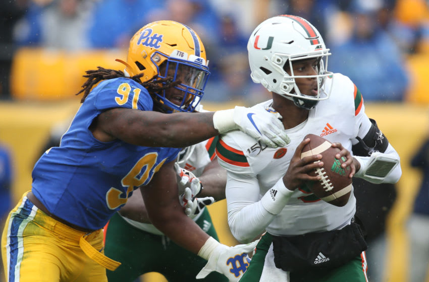 The Los Angeles Chargers select Patrick Jones II in the fourth round of this 2021 NFL mock draft (Photo by: Charles LeClaire-USA TODAY Sports)