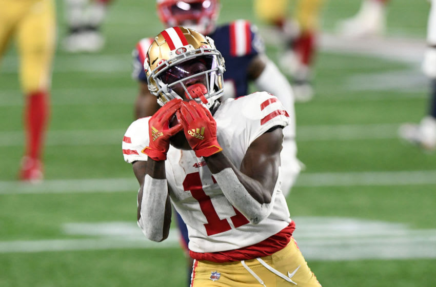 San Francisco 49ers rookie wide receiver Brandon Aiyuk (Photo by Brian Fluharty-USA TODAY Sports)