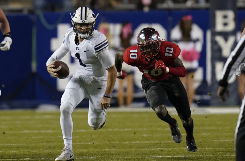 2021 NFL Draft prospect Zach Wilson #1 of the BYU Cougars (Photo by Rick Bowmer/Pool Photo-USA TODAY Sports)
