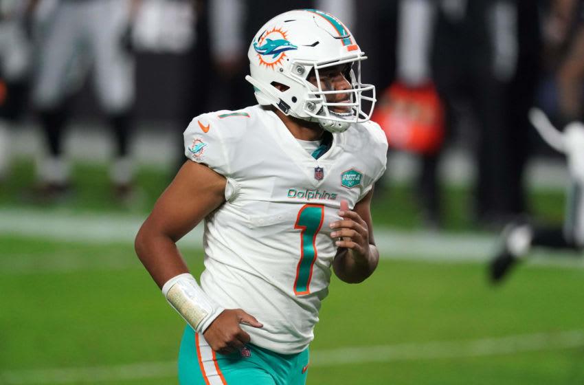 Miami Dolphins rookie quarterback Tua Tagovailoa (Photo by Kirby Lee-USA TODAY Sports)