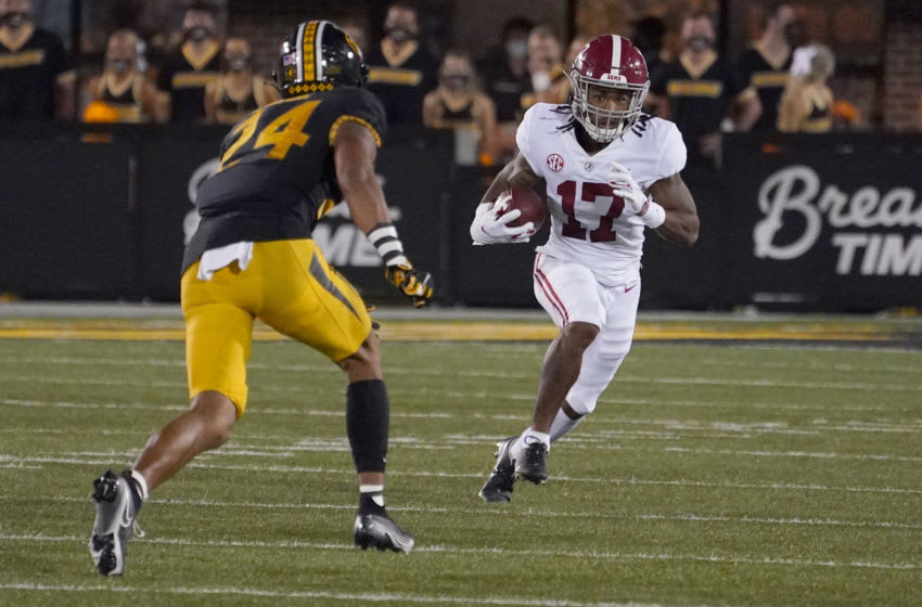Alabama Crimson Tide wide receiver Jaylen Waddle (Mandatory Credit: Denny Medley-USA TODAY Sports)