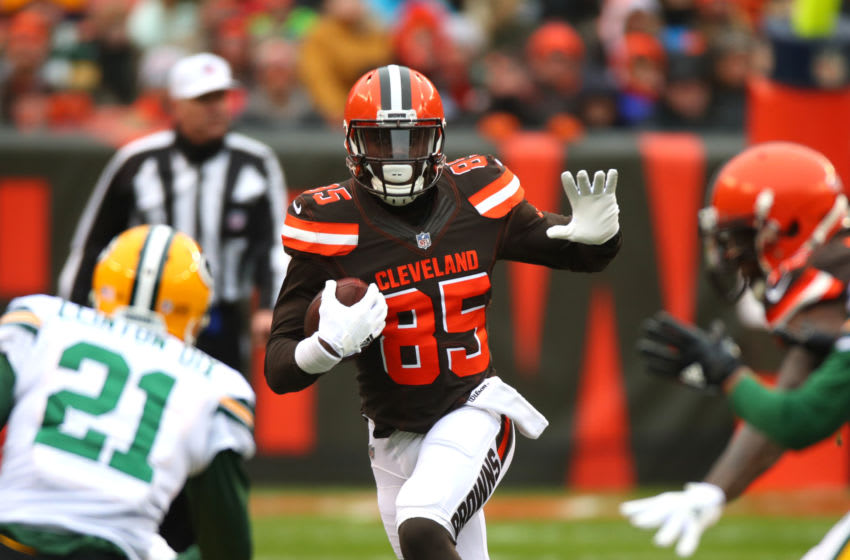 David Njoku, Green Bay Packers (Photo by Gregory Shamus/Getty Images)