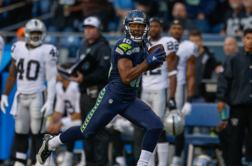 SEATTLE, WA - SEPTEMBER 03: Wide receiver Tyler Lockett (Photo by Otto Greule Jr/Getty Images)