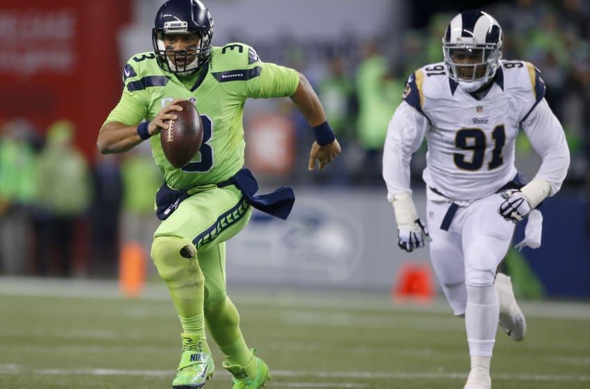 SEATTLE, WA - DECEMBER 15: Quarterback Russell Wilson