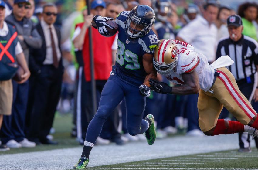 SEATTLE, WA - SEPTEMBER 25: Wide receiver Doug Baldwin