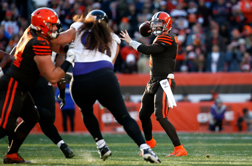 Cleveland Browns vs. Baltimore Ravens, NFL Week 1. (Photo by Kirk Irwin/Getty Images)