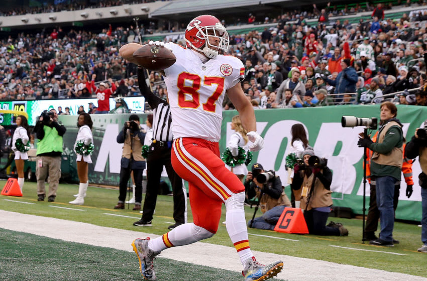 Travis Kelce, Chiefs, New York Jets (Photo by Elsa/Getty Images)