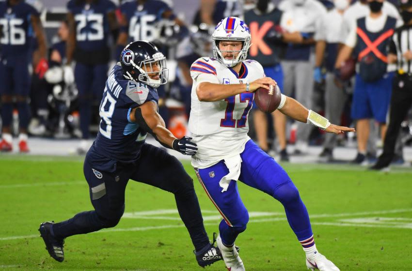 Josh Allen, Buffalo Bills (Mandatory Credit: Christopher Hanewinckel-USA TODAY Sports)