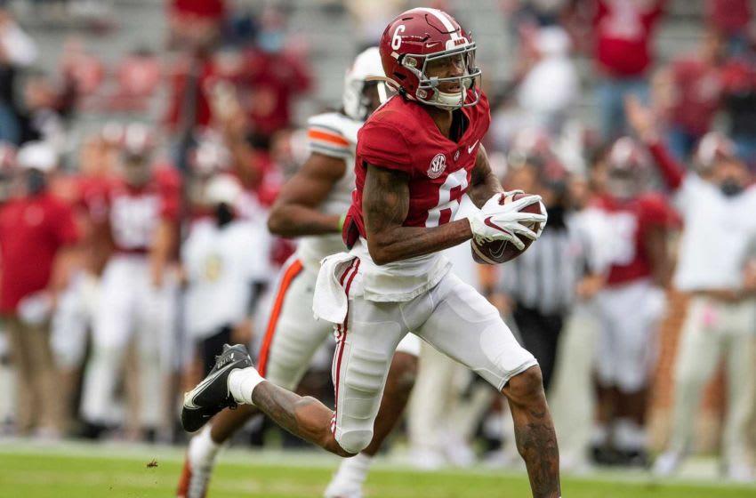 DeVonta Smith, 2021 NFL Draft. Mandatory Credit: USA Today Sports