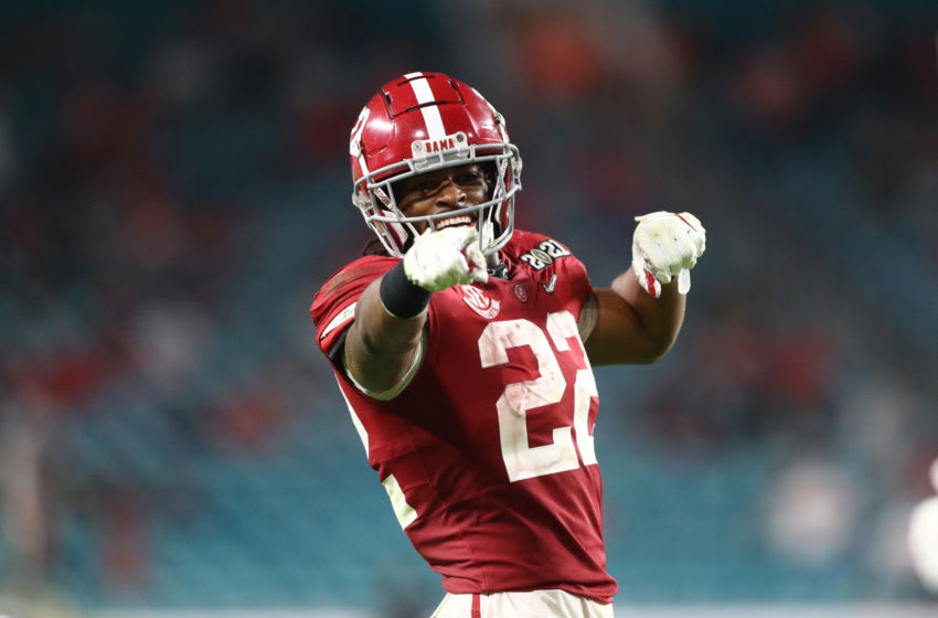 Najee Harris, 2021 NFL Draft. Mandatory Credit: Mark J. Rebilas-USA TODAY Sports