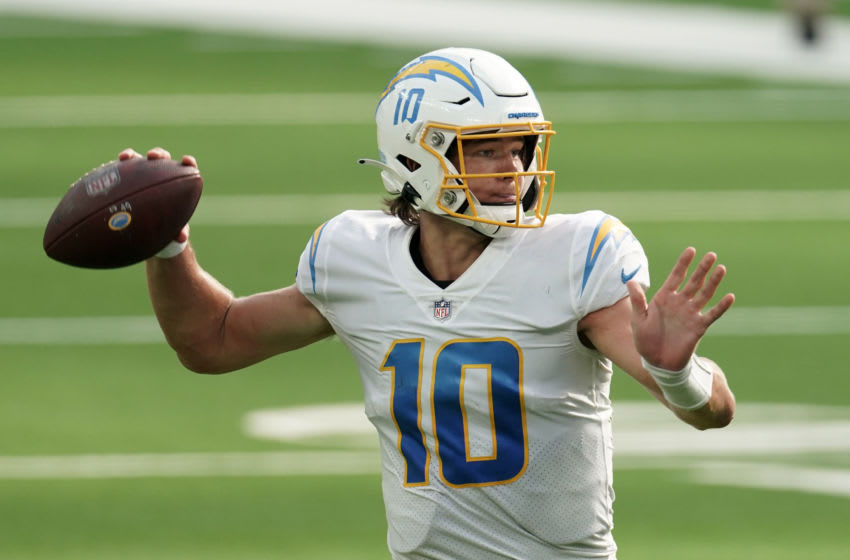 Los Angeles Chargers, Justin Herbert (Mandatory Credit: Kirby Lee-USA TODAY Sports)