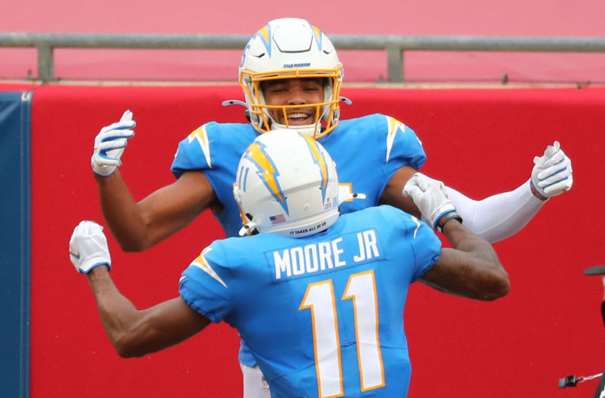 Los Angeles Chargers wide receiver Jalen Guyton (15) - Mandatory Credit: Kim Klement-USA TODAY Sports