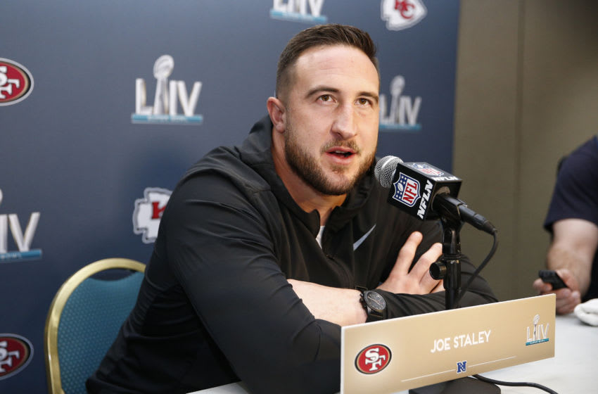 Joe Staley #74 of the San Francisco 49ers (Photo by Michael Reaves/Getty Images)