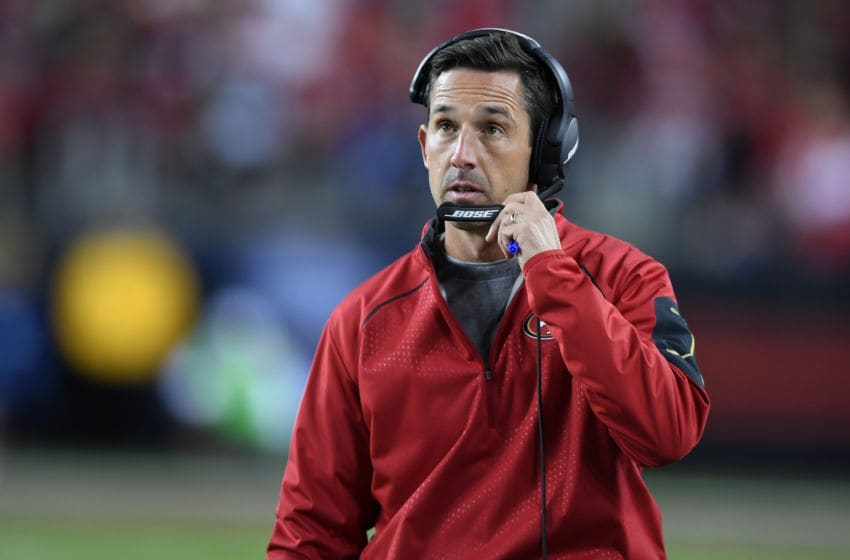 Head coach Kyle Shanahan of the San Francisco 49ers (Photo by Thearon W. Henderson/Getty Images)