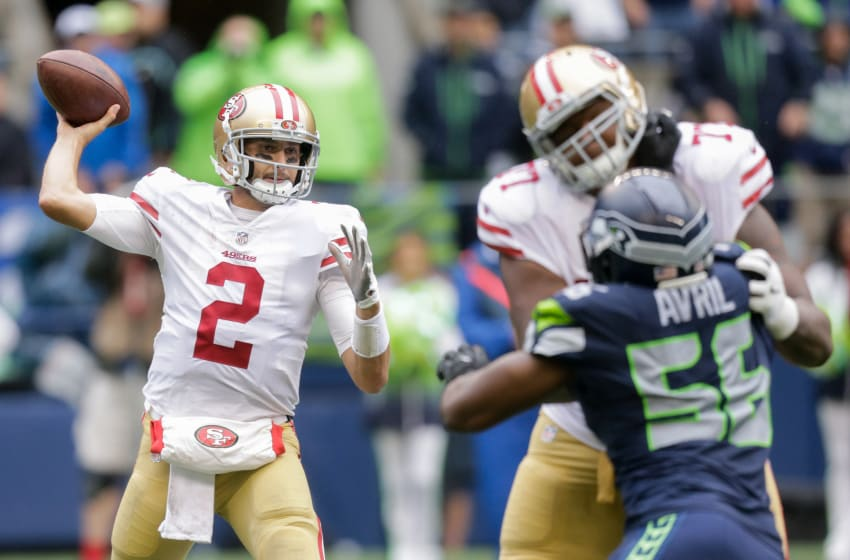 SEATTLE, WA - SEPTEMBER 17: Quarterback Brian Hoyer
